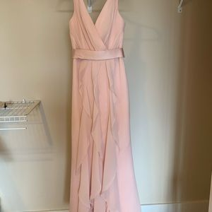 Vera Wang WHITE Collection Blush Bridesmaid Dress